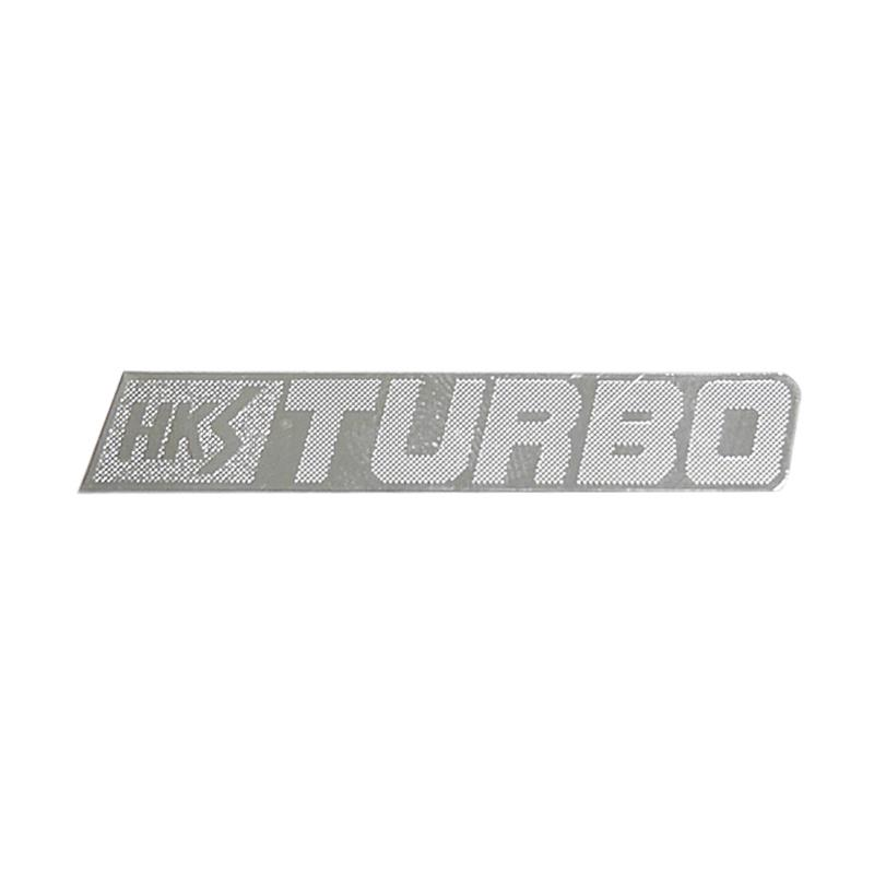 SIV HKS Turbo Sticker - Silver [Small/2 pcs]