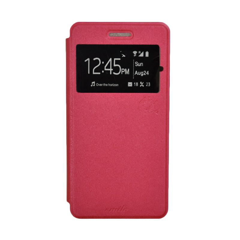 SMILE Standing Cover Casing for LG K4 - Hot Pink