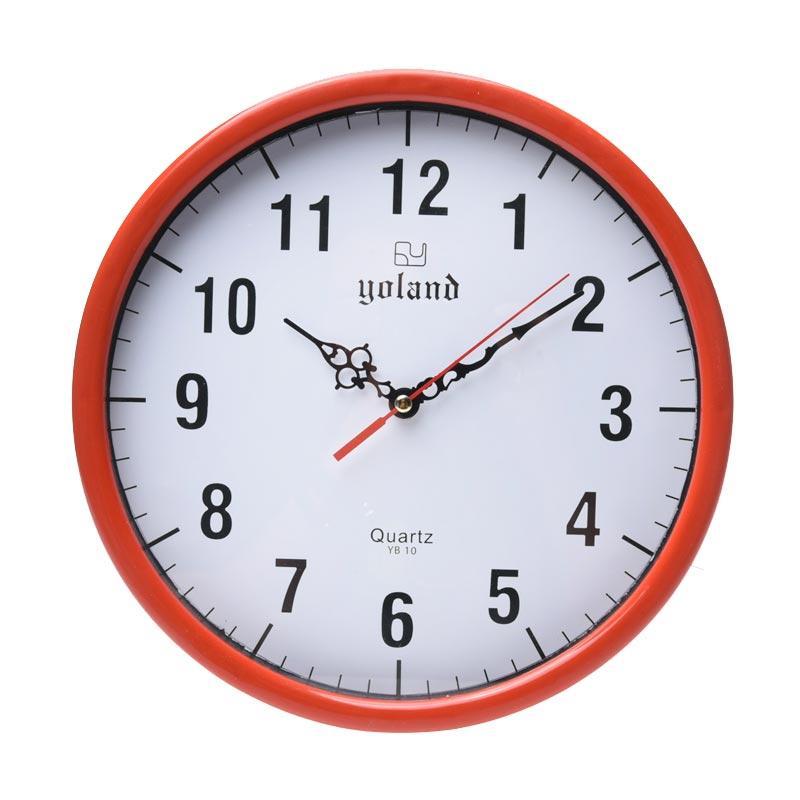 TJ yb10 Motif Numberic Jam Dinding - Ring Merah [30cm]