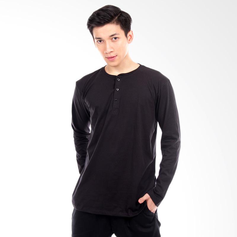 Word.o Basic Lengan Panjang T-shirt - Hitam Extra diskon 7% setiap hari Extra diskon 5% setiap hari