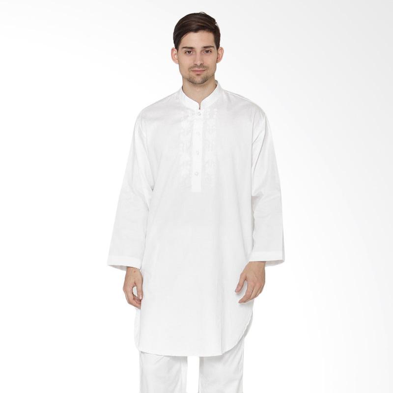 arafah pk bulan bintang baju koko pria white