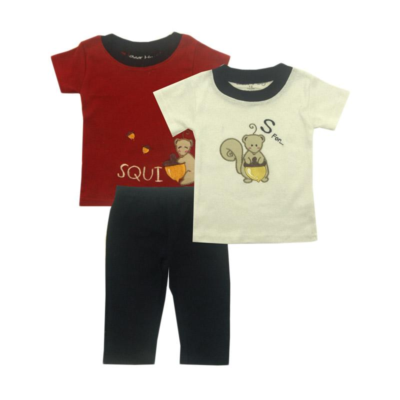 Bearhug Squirrel Set for Baby Boy Set Pakaian Anak [3 Pcs]
