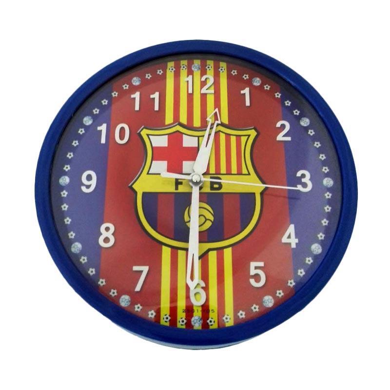 Jam Dinding Club Bola Barcelona Ring Biru [20cm]
