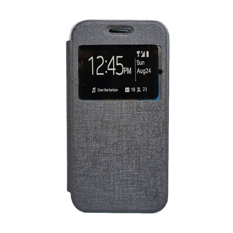 Zagbox Flip Cover Casing for Asus Zenfone 2.5 inch - Abu-abu