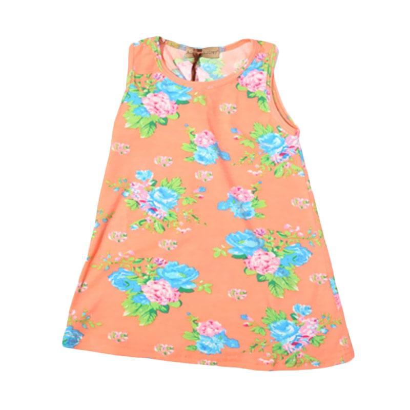 Adel & Audrey Flower 131 Dress Anak - Orange