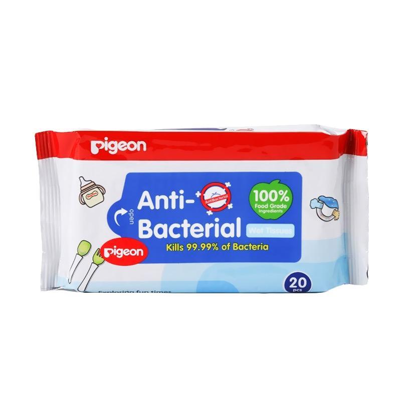 Pigeon Wipes Antibacterial Tisu Basah [20's]