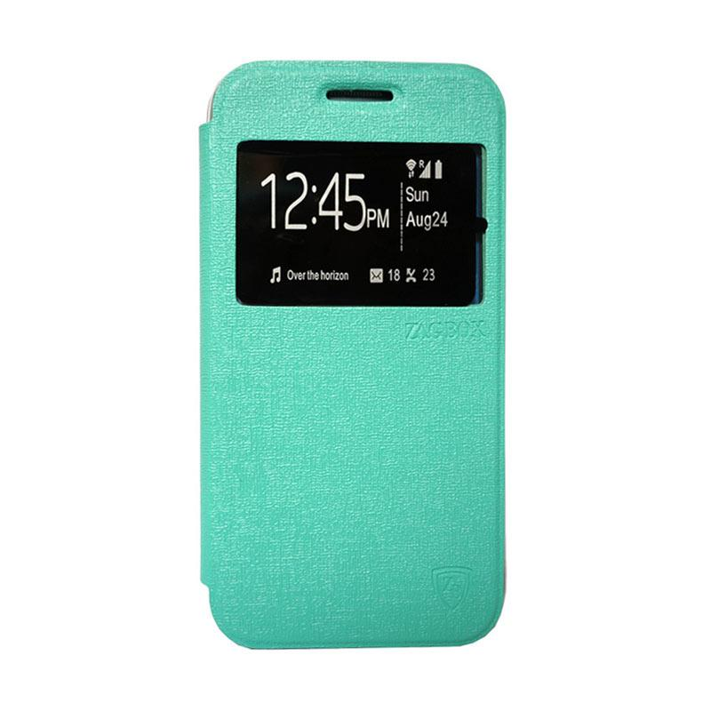 Zagbox Flip Cover Casing for Huawei Y5 - Hijau Tosca