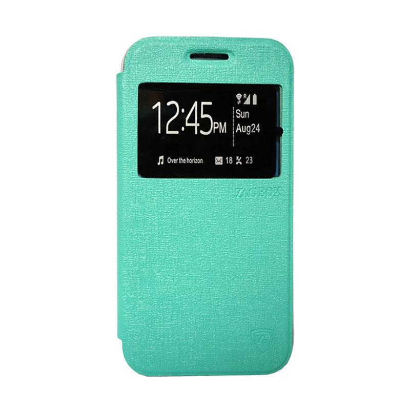 Zagbox Flip Cover Casing for Oppo R1 X - Hijau Tosca