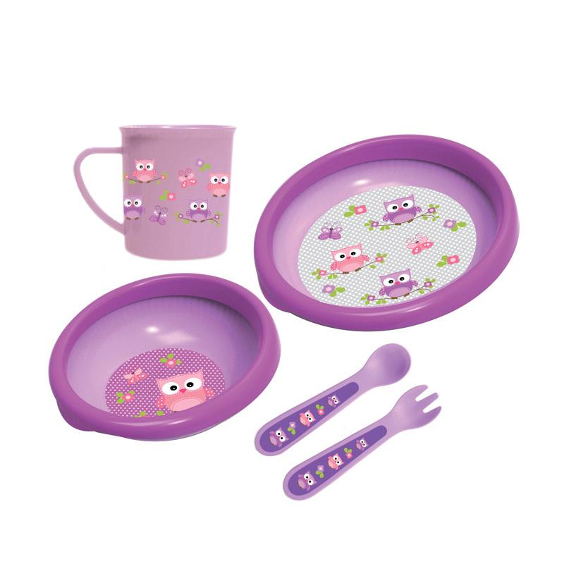 BabySafe FS500 Mealtime Collection Set Peralatan Makan Anak - Purple