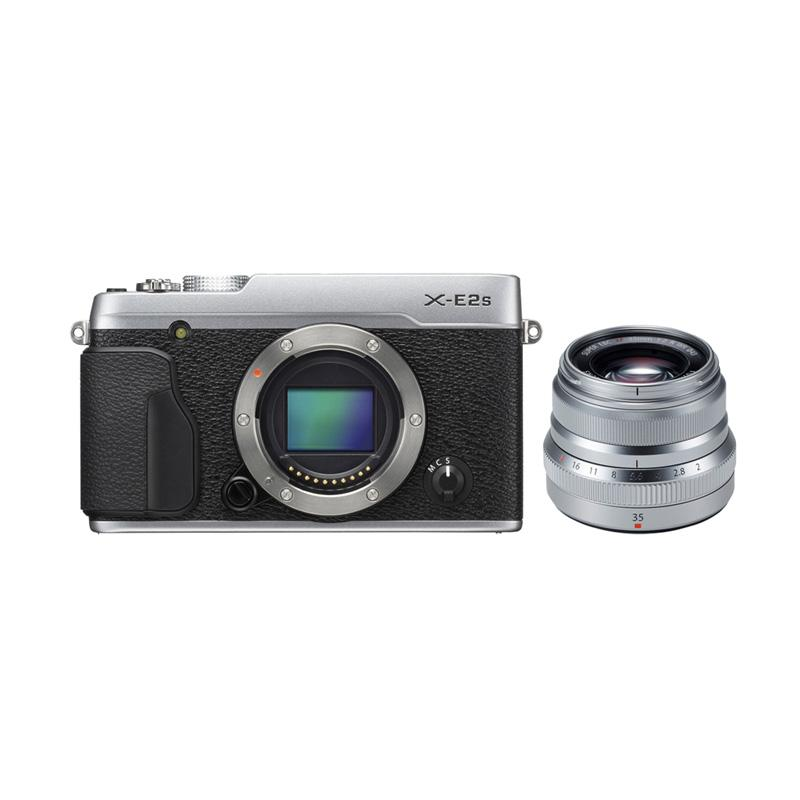 Fujifilm X-E2S Kit XF 35mm F2 R WR BLACK Kamera Mirrorless - Silver + INSTAX MINI 70 + SD ULTRA 16GB