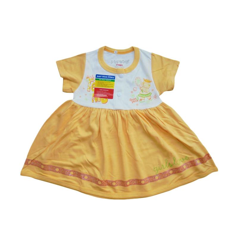 Piteku Hippo Tennis Dress Anak - Orange