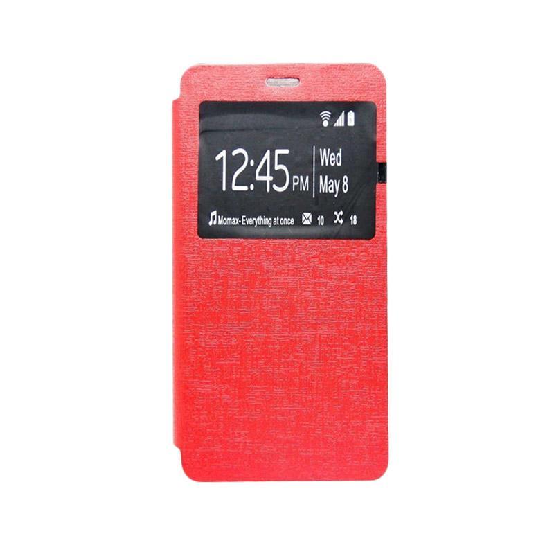 UME Flip Cover Casing for Samsung J5 2016 J510 - Merah