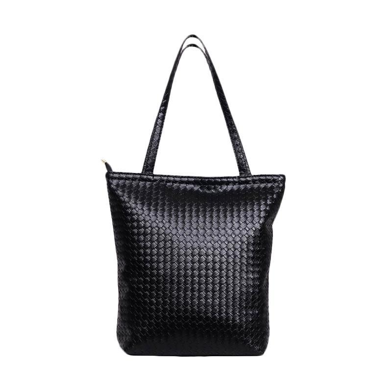 Chloe Babyshop Anyam Tote Bag - Black