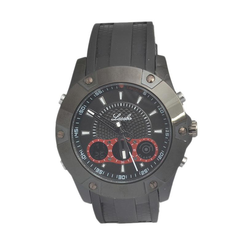 Lasebo Sporty LS8022RE Jam Tangan Pria - Black