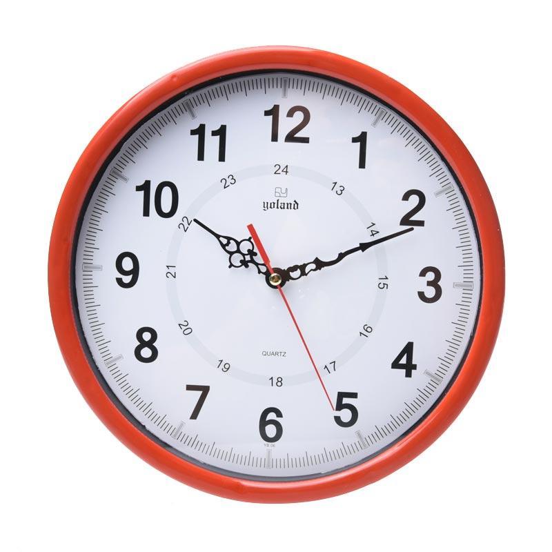 TJ yb06 Motif Numberic Jam Dinding - Ring Merah [30cm]