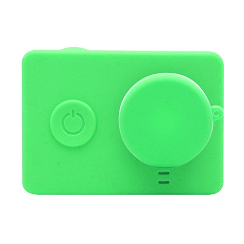 Xiaomi Yi Silicone Case and Lens Cap - Hijau