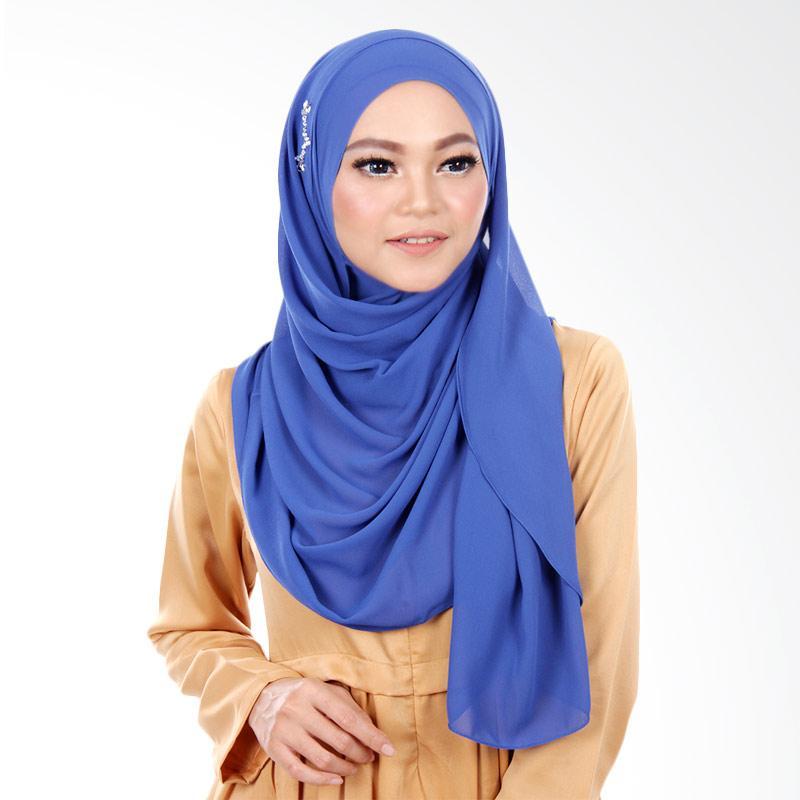 Cantik Kerudung Kimberly Instant Hijab - Royal Blue