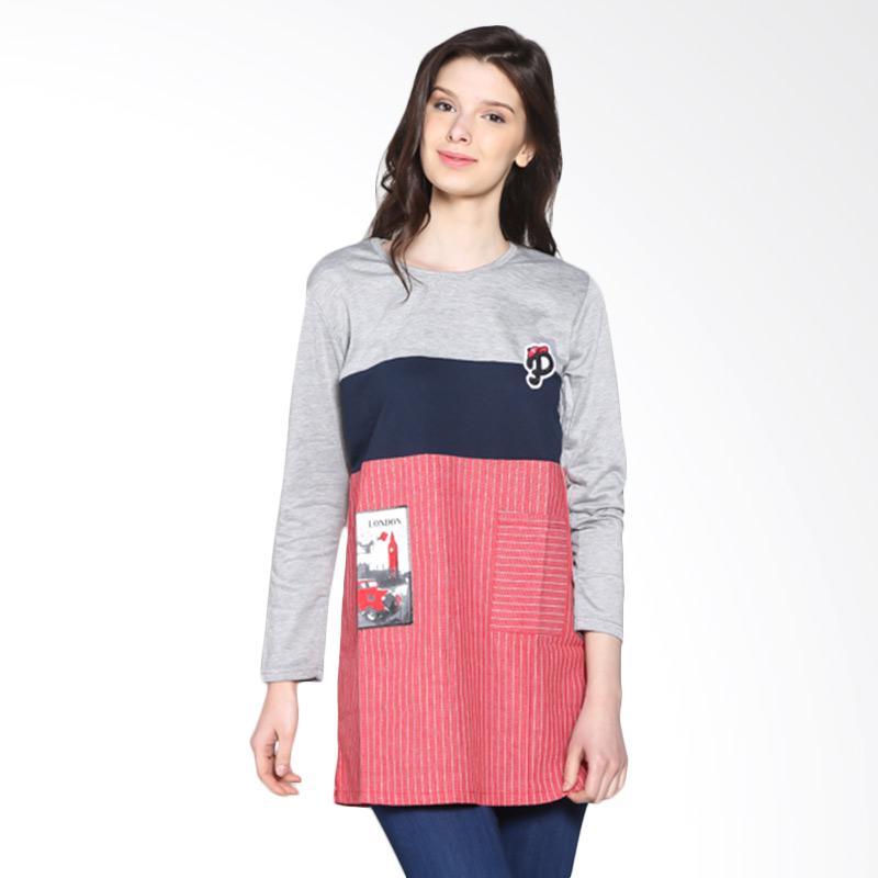 Carte Block long sleeve Atasan Wanita - Grey
