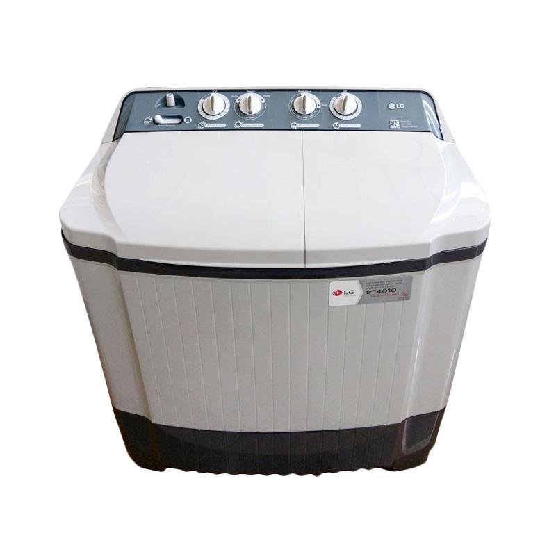 LG P800N Mesin Cuci - Putih [2 Tabung/8 kg/Khusus Jabodetabek]