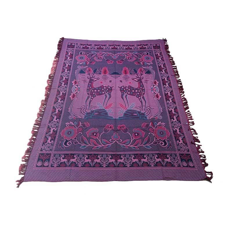 harga Mihrab Rusa Anyaman Hambal - Merah Hitam [165 x 240 cm] Blibli.com