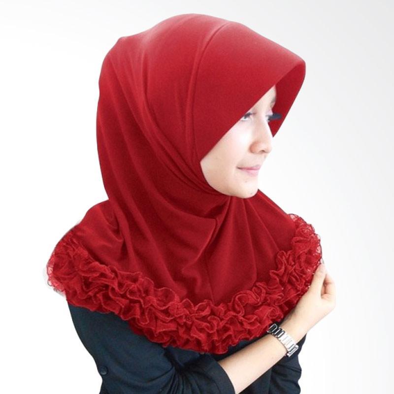 Milyarda Hijab Gotik Pendek - Maroon