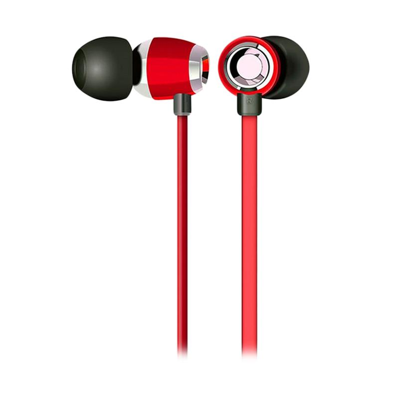 ROBOT RE-P05 Mini Fashion Wired Headset - Red