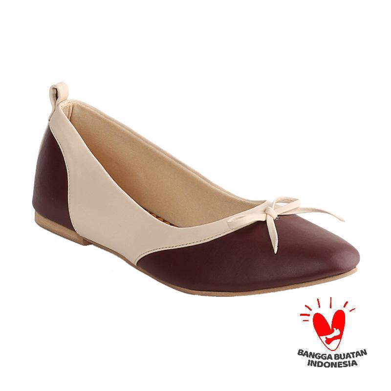 Blackkelly Shirley LDA 798 Sepatu Flat Wanita - Brown Cream