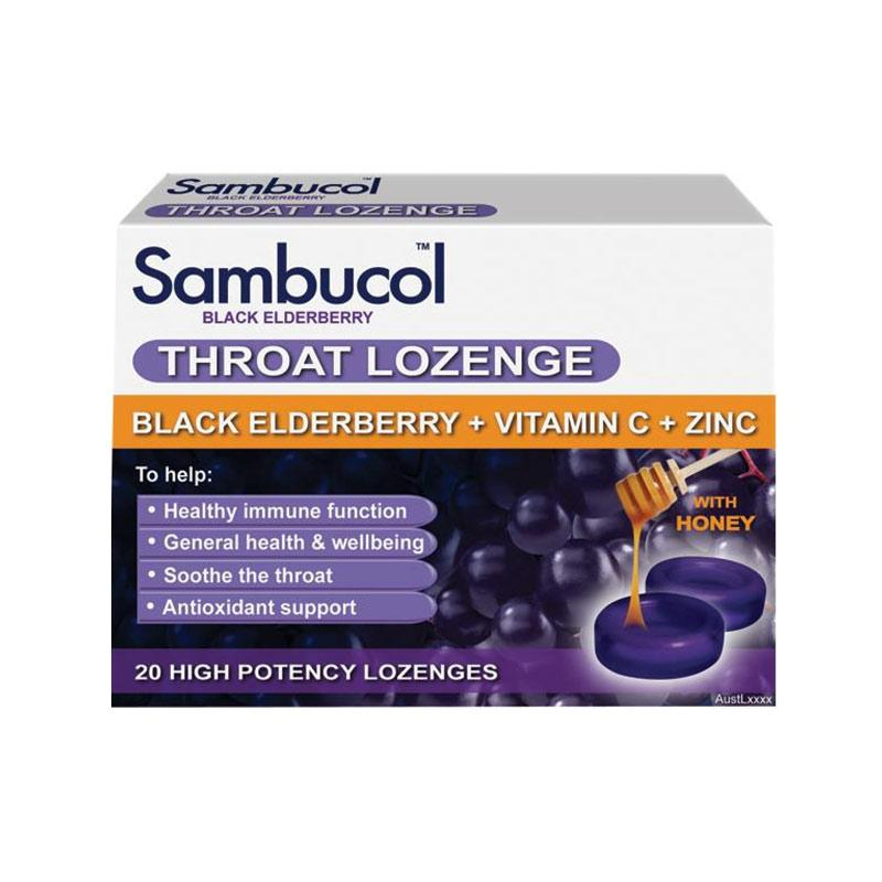 Sambucol Throat Lozenges AUS Multivitamin [20 Lozs]