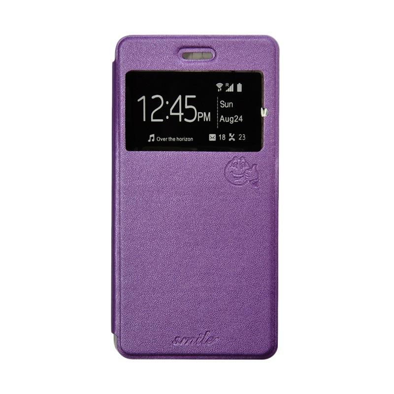 Smile Flip Cover Casing for Asus Zenfone 5 - Ungu
