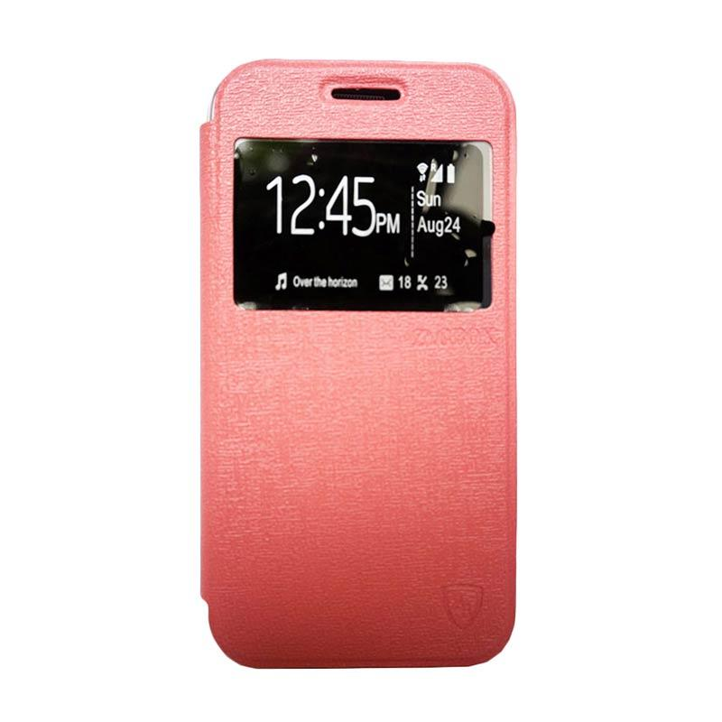 Zagbox Flip Cover Casing for Asus Zenfone 4S - Pink