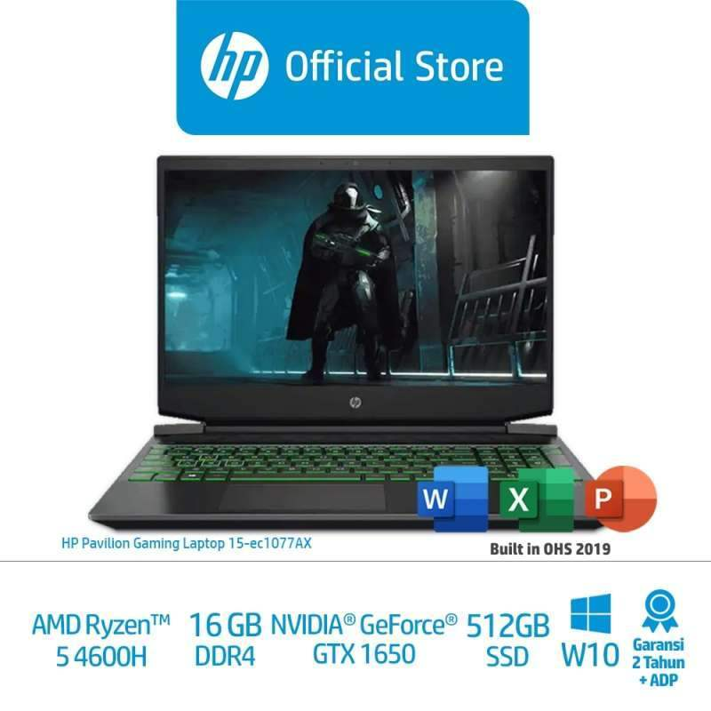 Jual Hp Pavilion Gaming Laptop 15 Ec1077ax Black Laptop Gaming 230l2pa 15 6 Ryzen 5 16gb Nvidia Geforce Gtx 1650 512gbssd W10 Home Online Februari 2021 Blibli