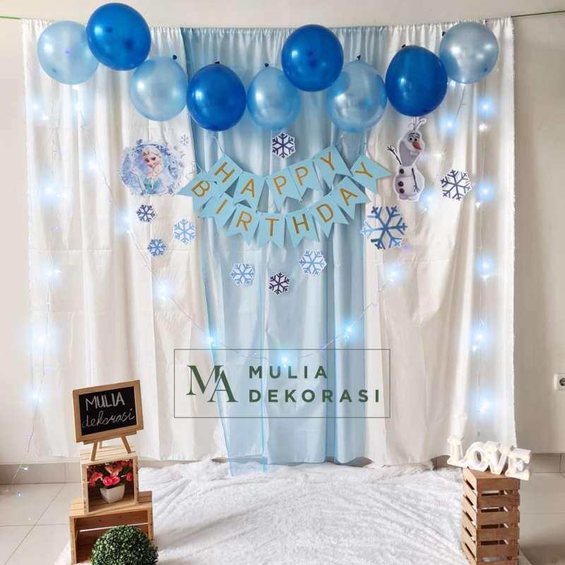 Jual Backdrop Dekorasi Ulang Tahun Happy Birthday 1 Set Paket Tirai Pesta  Anak Paket Frozen Terbaru Juni 2021 | Blibli