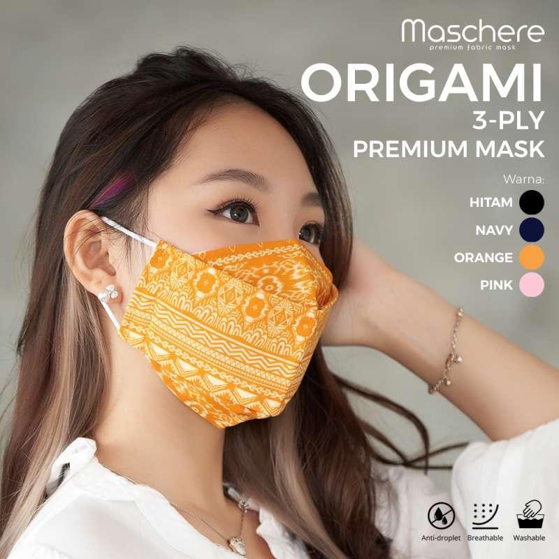Masker Kain Batik 3 Ply Model Origami Maschere