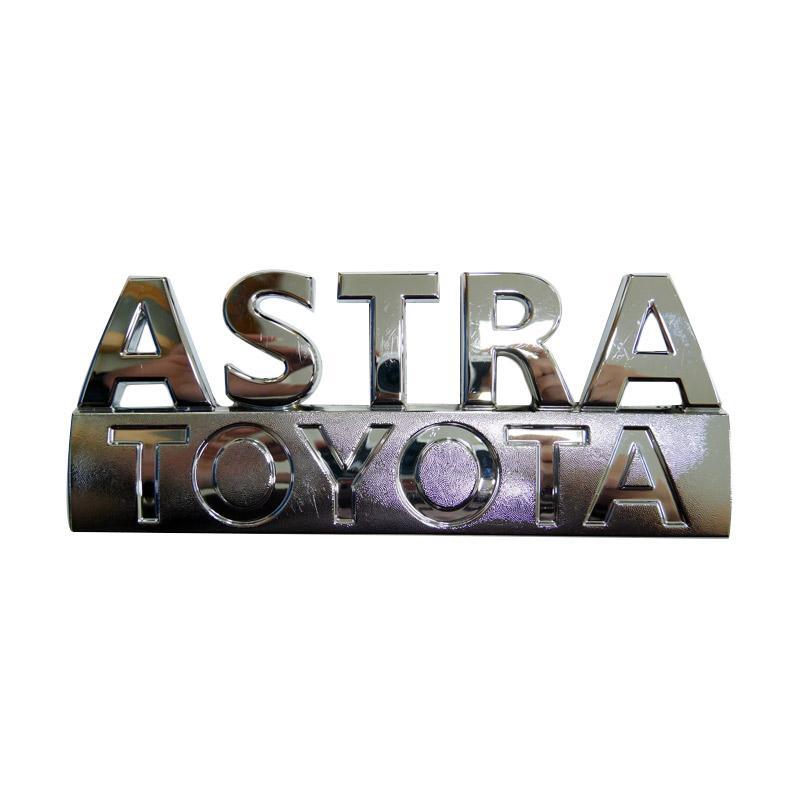 SIV EMB-115 Emblem Logo Tulisan Astra Toyota Aksesoris Body Mobil