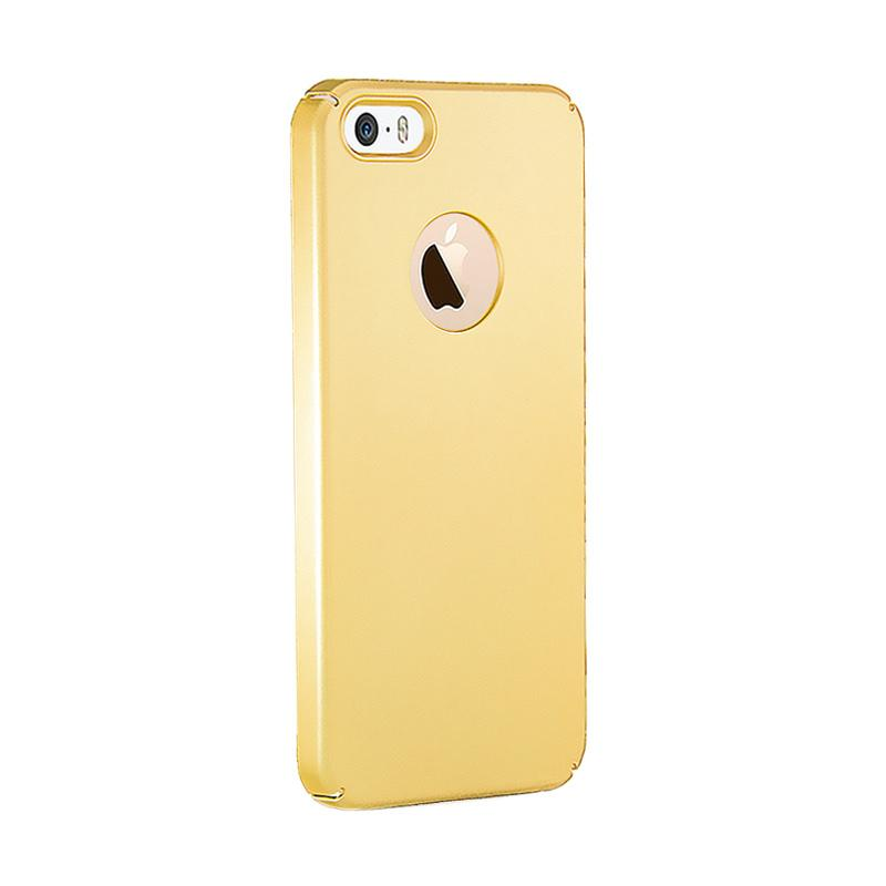 Fashion Baby Skin Ultra Thin Hardcase Casing for iPhone 5S - Gold