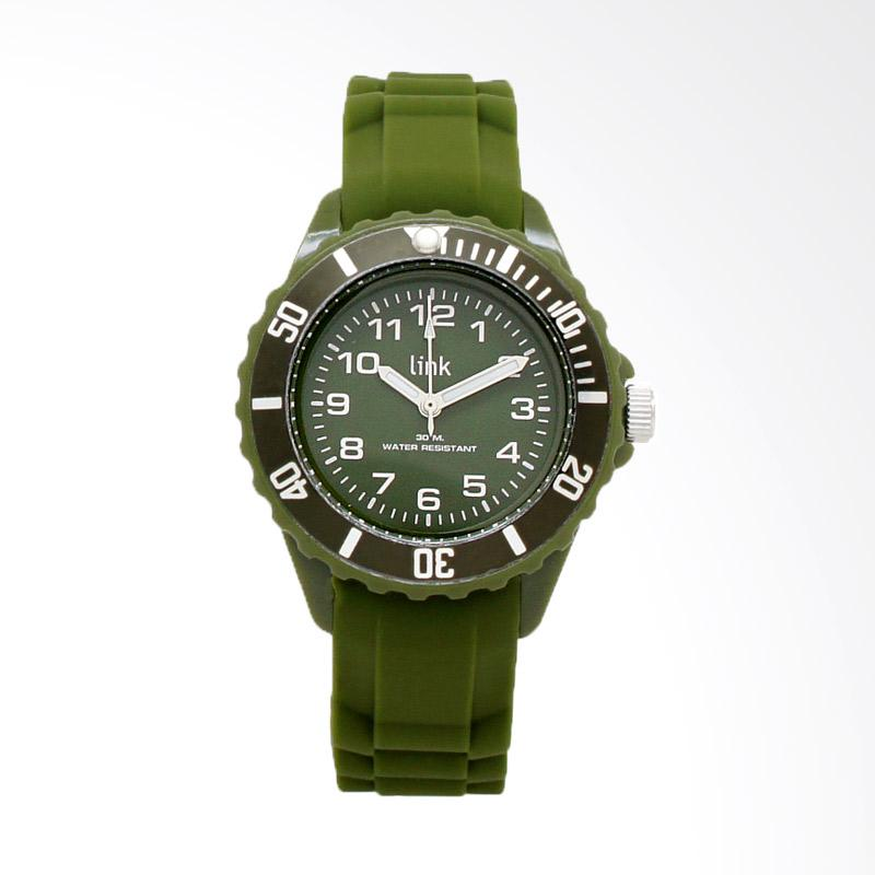 Linkgraphix Link Solid LSS03 Jam Tangan Wanita - Dark Green