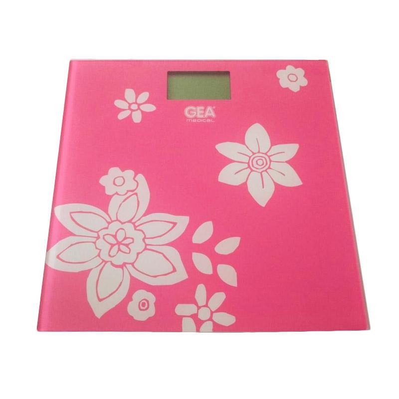 GEA EB9360 Motif Bunga Timbangan Digital - Pink