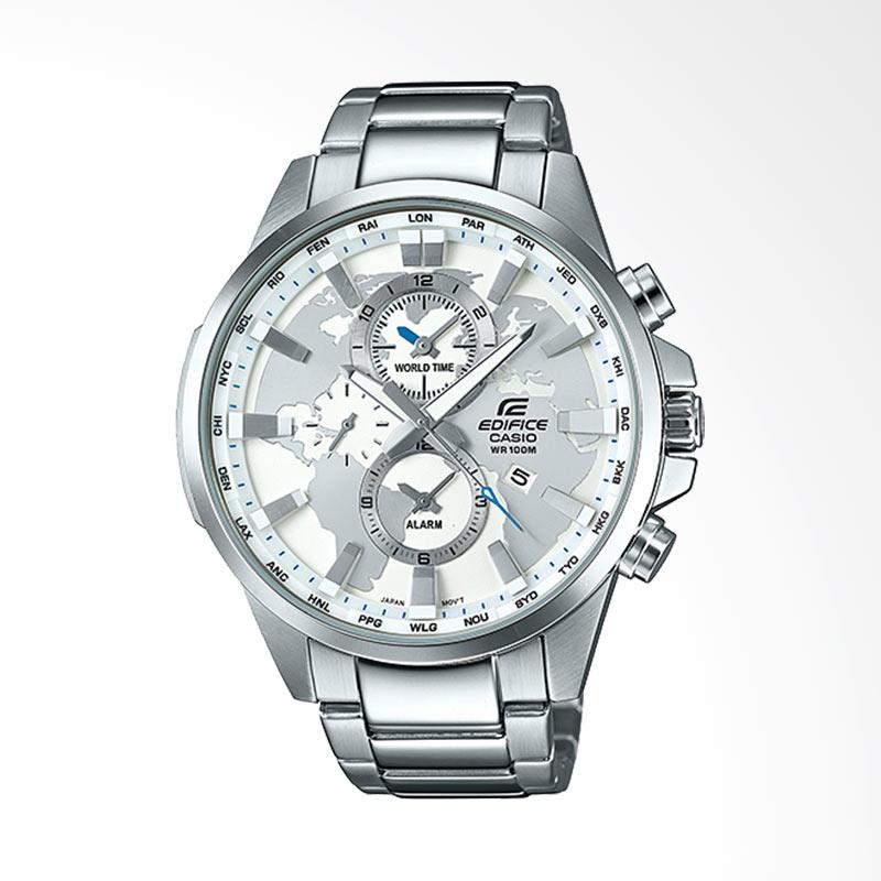 Casio Edifice World Time Map stainless steel