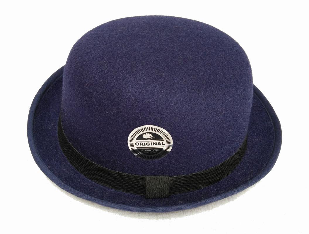 harga D D Hat Collection Topi Fedora Chaplin Topi Bowler Dewasa - Navy  Blibli.com 65c99d7f377f
