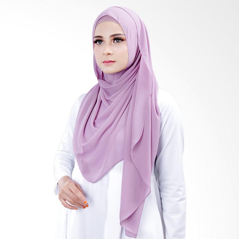 Cantik kerudung Bella Instant Shawl Hijab ��� Dusty Purple No.8