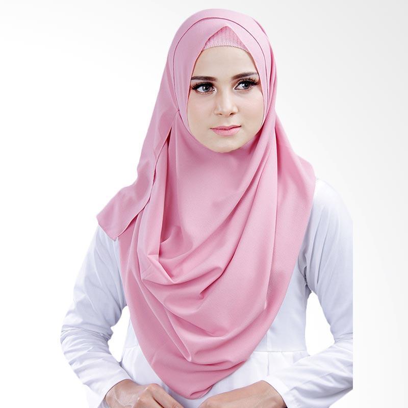 Cantik Kerudung Bella 2 Face Hijab Instant - Dusty Pink No.2