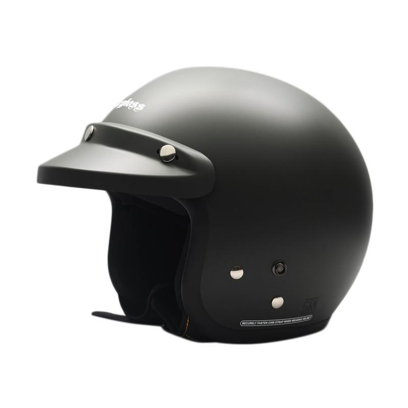 harga Cargloss Retro Army Helm Half Face - Black Doff Blibli.com