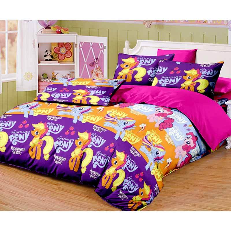 Monalisa T20 Little Pony Set Sprei - Ungu