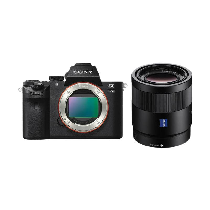 Sony Alpha A7II Kamera Mirrorless with FE 55mm f/1.8 SEL55F18Z - Hitam [Special Package]