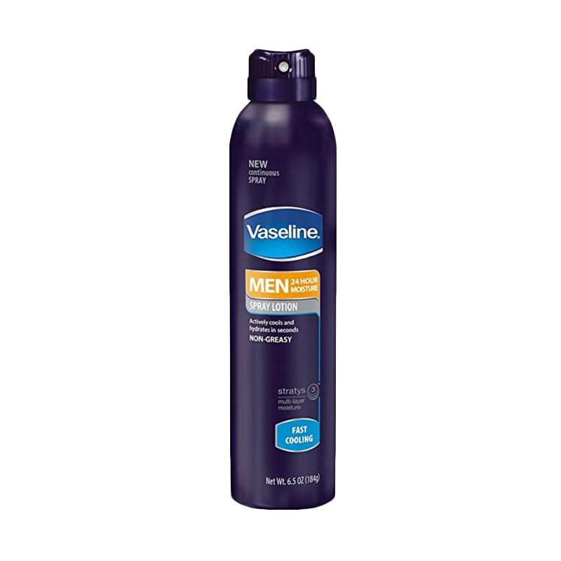 Vaseline Men Spray and Go Body Lotion Fast Absorbing Spray