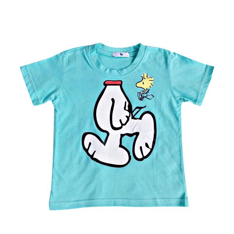 HQo Kaos Anak Perempuan / Kaos Anak Laki Laki Peanut Snoopy
