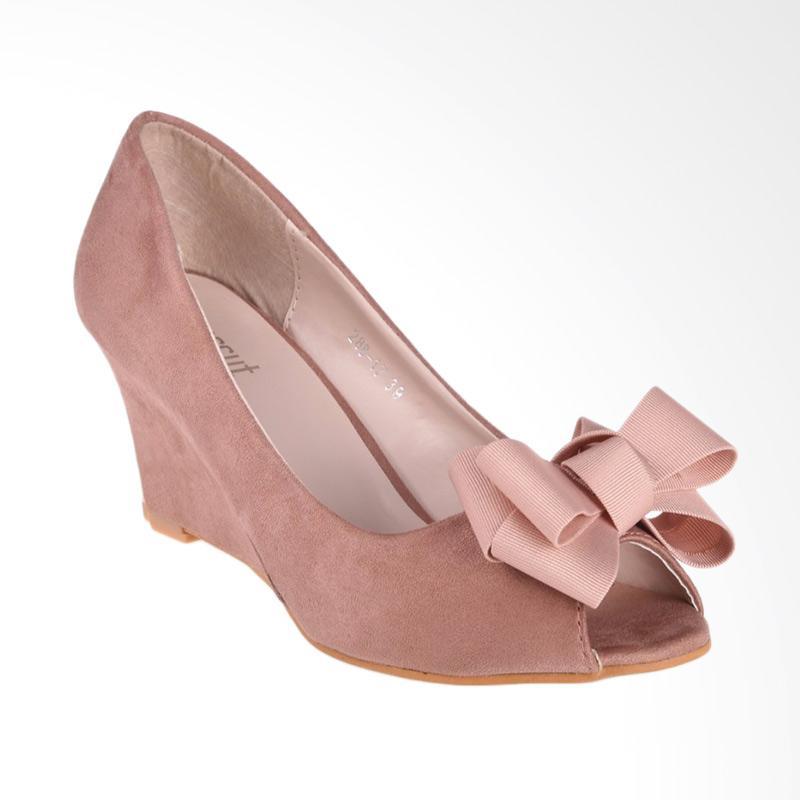 Papercut Shoes Xianggelula Bow Suede Wedges