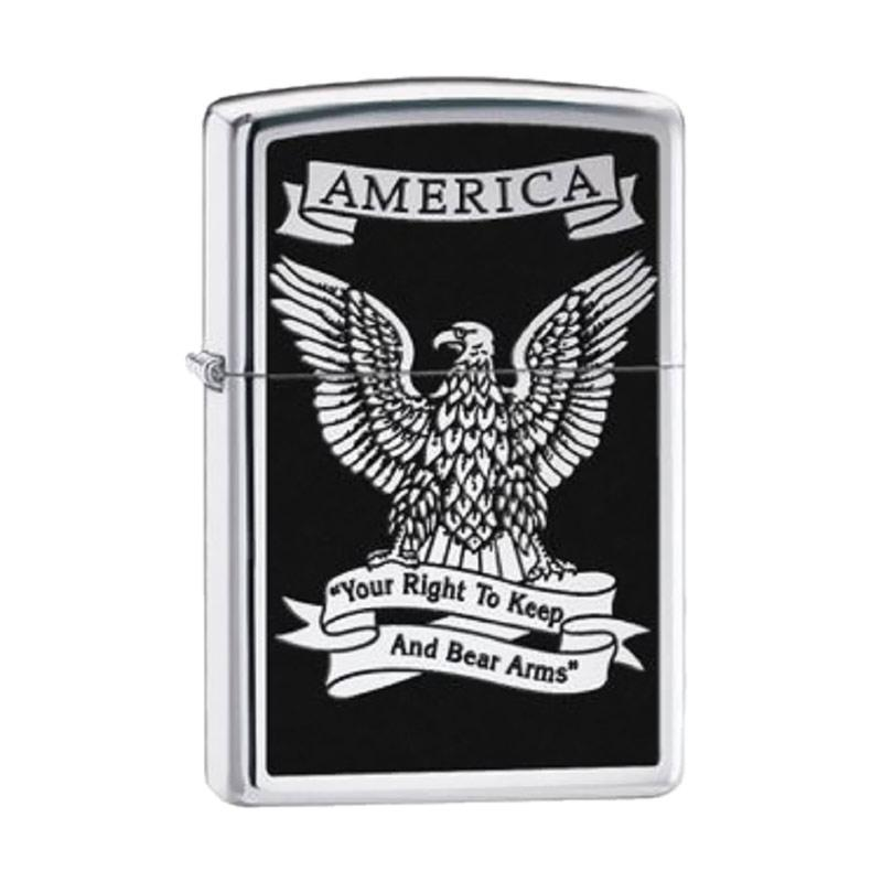 Zippo Eagle High Polish Lighter - Chrome