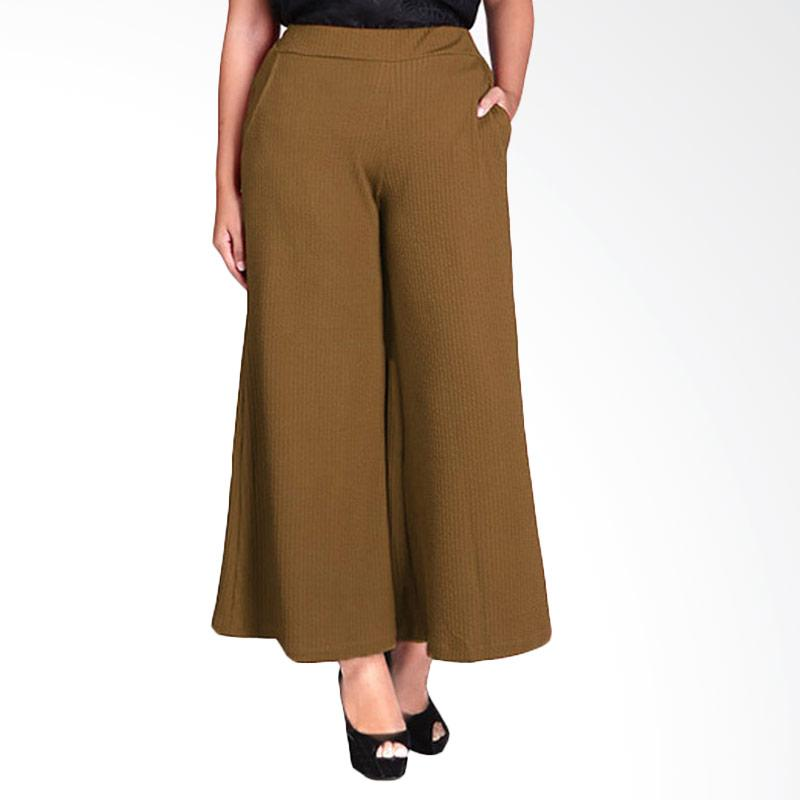 Rasya Babat Import Celana Kulot - Khaki
