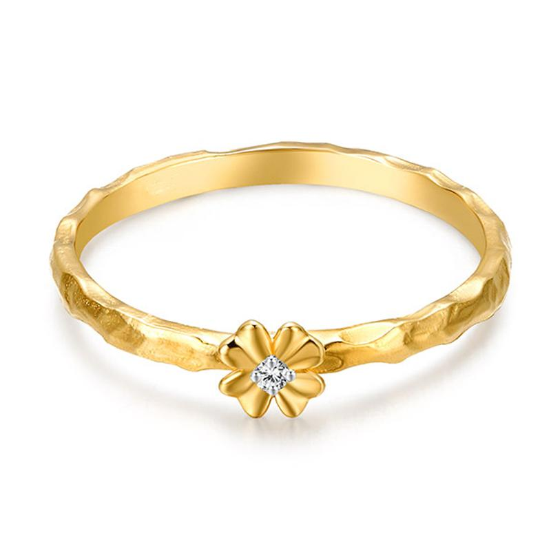 Tiaria Timeless Flower Ring Yellow Gold Perhiasan Emas Cincin [9K]